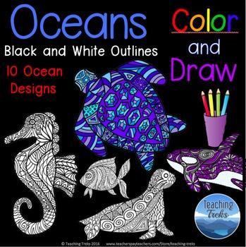 Ocean Activities: Coloring