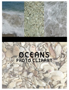 Oceans Clipart (For Personal or Commercial Use)