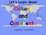 Oceans & Continents Social Studies SmartBoard Lesson Primary Grades
