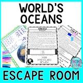 Oceans ESCAPE ROOM!     NO PREP, PRINT & GO!