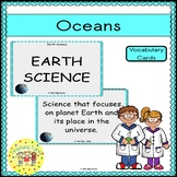 Oceans Vocabulary Cards