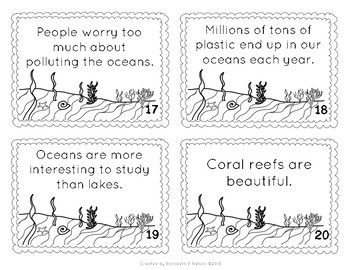 Oceans Fact and Opinion Scoot