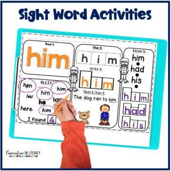 First Grade Sight Word Activities Oceans Pack