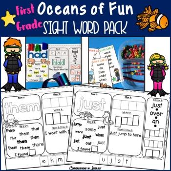 Oceans First Grade Sight Word Pack