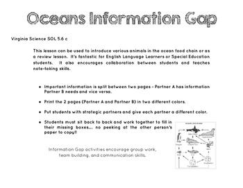 Oceans Food Web Information Gap