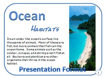 Oceans Habitat and Adaptations PDF Presentation