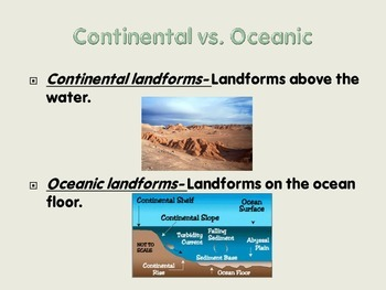 Oceans & Landforms Power Point