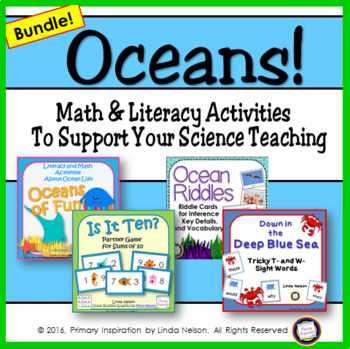 Oceans! Literacy and Math Bundle