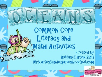 Oceans Literacy and Math Packet