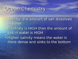 Oceans PowerPoint- salinity, waves, currents, tides, subsurface topography
