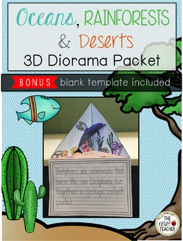 Oceans, Rainforests & Deserts 3D Diorama/Triorama Packet