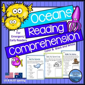 Oceans Theme: Ocean Animals Reading Comprehension Passages