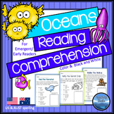 Oceans Theme: Ocean Animals Reading Comprehension Passages and Questions