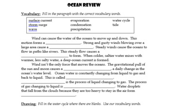 Oceans Review and Assessment