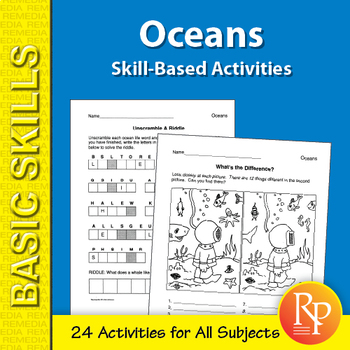 Oceans: Skill-Based Activities for Grades 3-4