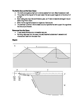 Oceans - Study Guide and Test Bundle