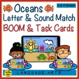 Oceans Upper & Lowercase Letters & Sounds Match BOOM & Task Cards