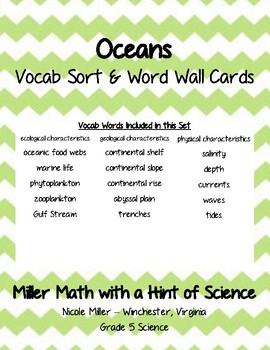 Oceans Vocab