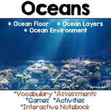 Oceans Vocabulary, Assessments, Activities and Games