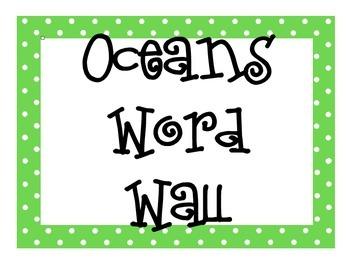 Oceans Word Wall