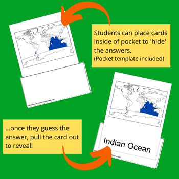 Oceans - World Geography Nomenclature Cards