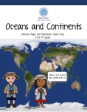 Oceans and Continents Activity Set