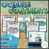 Oceans and Continents {Digital AND Paper}