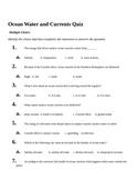 Oceans current Quiz