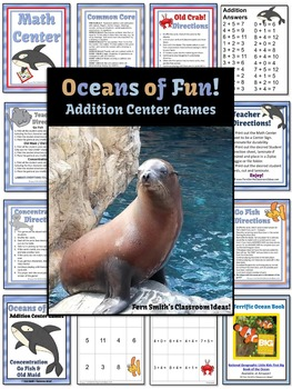 Addition Center Games For Oceans of Fun
