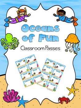EDITABLE Oceans of Fun Classroom Passes