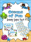 Oceans of Fun Dewey Signs Pack