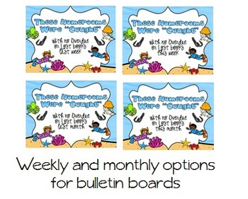 Oceans of Fun No Lost or Overdue Library Books Bulletin Board Set
