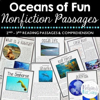 Oceans of Fun - Second Grade Nonfiction Reading Passages and Comprehension