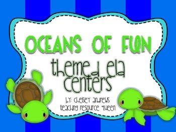 Oceans of Fun~ Summer Themed ELA Centers