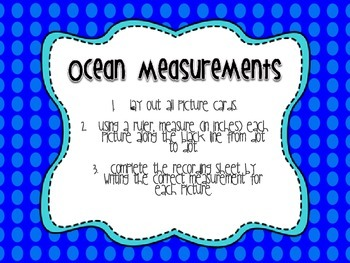 Oceans of Fun~ Themed Math Centers