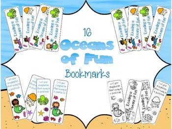 Oceans of Fun bookmarks