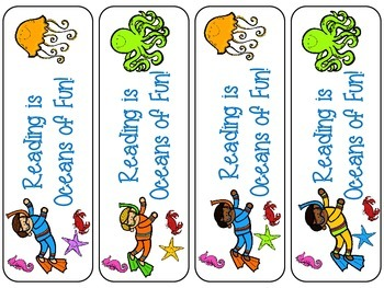 Oceans of Fun bookmarks