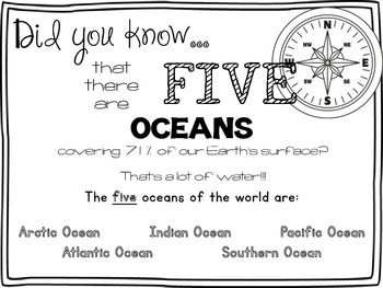 Standards Aligned Five Oceans of the World!