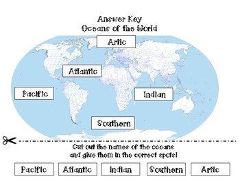 Oceans of the World {Cut and Paste Activity!}