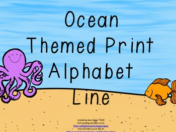 Ocean Themed Print Alphabet Line/Cards