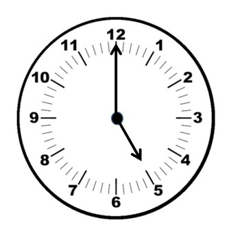 Clock clipart every 5 minutes for commercial use-perfect for worksheets.