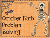 October Math Journal Problem Solving