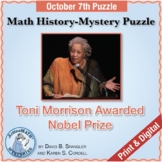 Oct. 7 Math History-Mystery Puzzle: Toni Morrison Awarded Nobel Prize