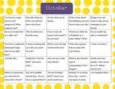 Oct-Nov-Dec Writing calendars