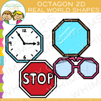 Octagon Real Life Objects 2D Shapes Clip Art