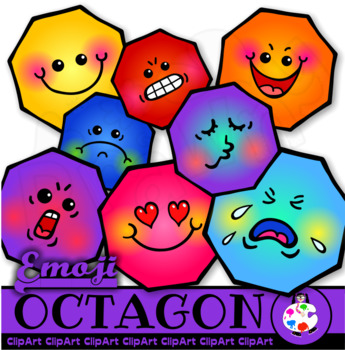 Octagon Geometry Shapes - Math Clip Art