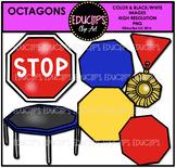 Octagon Shapes Clip Art Bundle {Educlips Clipart}