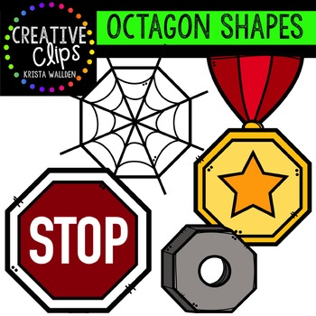 Octagon Shapes {Creative Clips Digital Clipart}
