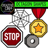 Octagon Shapes {Creative Clips Digital Clipart}