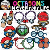 Octagons in Everyday Life Clipart {Octagons in real life Clipart}